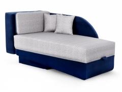 Диван-кровать Джеки-2 Вариант 2 Серо-синий велюр