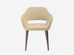 Кресло Балун W кожзам ECO белый-орех