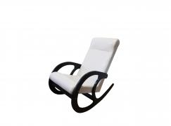 Кресло-качалка Венге-кожзам Бежевый