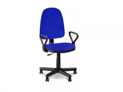 Кресло офисное Prestige Lux gtpPN S14 ткань черно-синяя