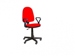 Кресло офисное Prestige Lux gtpPN S2 ткань красная