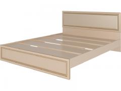 Кровать 1600 с настилом и мягкой спинкой Беатрис М09 ШхВхГ 1654х900х2040 мм