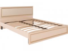 Кровать 1600 с ортопедическим основанием и мягкой спинкой Беатрис М10 ШхВхГ 1654х900х2040 мм