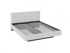 Кровать с мягкой обивкой тип 1 Элис Белый кожзам