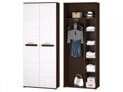 Шкаф 2-х дверный для платья и белья Мишель